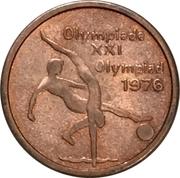 Token - XXI Olympics Montreal – reverse