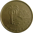 2 Rupee Token - Mauritius Casino – obverse