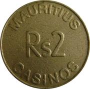 2 Rupee Token - Mauritius Casino – reverse