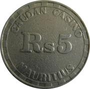 5 Rupees - Caudan Casino -  reverse