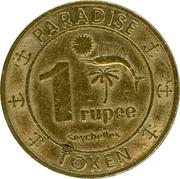 1 Rupee Token - Casino Paradise – reverse