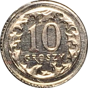 10 Groszy (Special Small Issue) – reverse