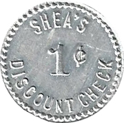 1 Cent - Shea & Shea – reverse
