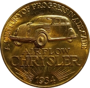 Token - Chrysler Car 10th Anniversary 1924-1934 - Century of Progress – obverse