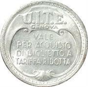 Token - U.I.T.E. Genova – obverse