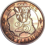 25 Westvlaander – reverse