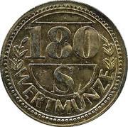 180 Schilling Wertmünze – obverse