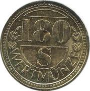 180 Schilling Wertmünze – reverse