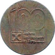 Token - Raiffeisen (100 years in Tirol) – reverse