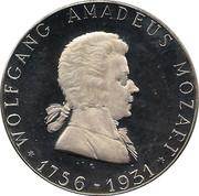 Token - Mozart 175th Birthday – obverse