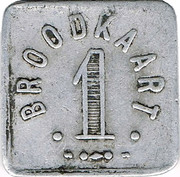 1 Broodkaart - Dendermonde – reverse