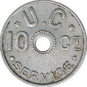 10 Centimes - Union Coopérative (Liège) – reverse