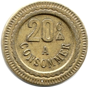 20 Centimes - A Consommer (Horse) – reverse