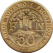 50 Gros Tournois Florinois - Florennes (1300-1980) – reverse