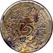 25 Westvlaander (9 coats of arms) – reverse