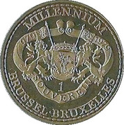 1 Souverein - Brussel (1000 years) – reverse