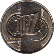 Royal Belgian Mint Token - 1 Frank – reverse