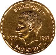 Medal - Baudouin I – obverse