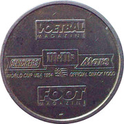 Token - Foot Magazine (World Cup'94 - Franky Van der Elst) – reverse
