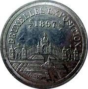 Token - Brussels International Exposition 1897 – obverse