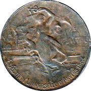 Token - Exposition Internationale d'Anvers 1894 – obverse