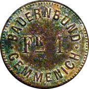 1 Franc - Bauernbund Gemmenich – obverse