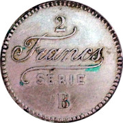 2 Francs - Casino de Spa – reverse
