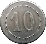 10 Centimes - Samenwerkende Maascchappij (Gent) – reverse
