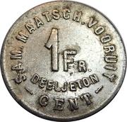 1 Franc - Deeljeton (Gent) – reverse