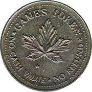 Games Token - No Cash Value (Clown head) – reverse