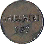 Token - Amusement 222 (No Cash Value) – obverse
