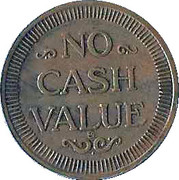 Token - Amusement 222 (No Cash Value) – reverse