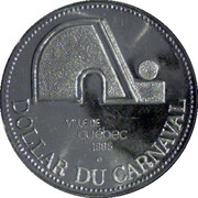 Dollar du Carnaval - Quebec City, Quebec – obverse