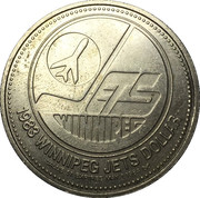 Winnipeg Jets Dollar - Winnipeg, Manitoba – reverse