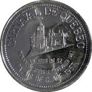 2 Carnaval Dollars - Quebec – reverse