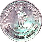 Dollar du Carnaval - Quebec City, Quebec – reverse