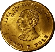 Token - James K. Polk (Scovill) – obverse