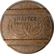 Car Wash Token - MTM Hydro Kaster (type 1) – obverse