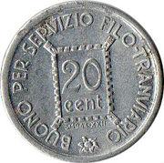 S.T.E.C.A.V. - 20 centesimi – reverse