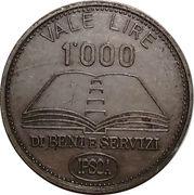 1000 Lire - IPSOA – obverse