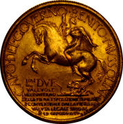 2 Lire - Vittorio Emanuele III. (Exposition in Milan) – reverse