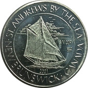 3 Dollars - St. Andrews, New Brunswick (Sailing Vessel Cory) – obverse