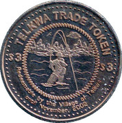 3 Dollars Telkwa Trade Token - Telkwa, British Columbia – reverse