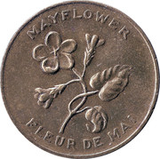 Shell Oil Token - Provincial Arms and Flowers (Nova Scotia) – obverse