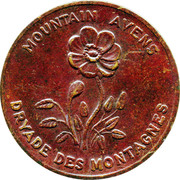 Shell Oil Token - Provincial Arms and Flowers (Northwest territories) – obverse