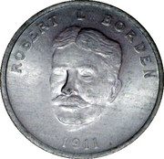Shell Oil Token - Prime Ministers of Canada (1911 - Robert L Borden) – obverse