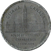 Shell Oil Token - Prime Ministers of Canada (1896 - Charles Tupper) – reverse
