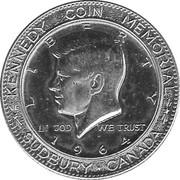 """Medallion - Sudbury """"Numismatic Park"""" (US Half Dollar 1964) – obverse"""