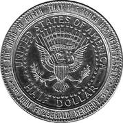 """Medallion - Sudbury """"Numismatic Park"""" (US Half Dollar 1964) – reverse"""
