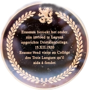 Token - The history of Belgium in 100 medals (Erasmus at Louvain) – reverse